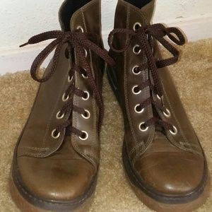 Womens Kenneth Cole Brown Leather Ankle Boots 8. 5
